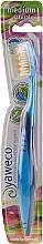 Düfte, Parfümerie und Kosmetik Zahnbürste mittel blau-hellblau - Yaweco Toothbrush Natural Medium