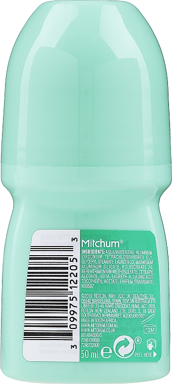 Deo Roll-on Antitranspirant unparfümiert - Mitchum Advanced Control 48HR — Bild N2