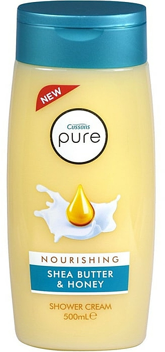 Nährende Duschcreme mit Sheabutter und Honig - Cussons Pure Shower Cream Nourishing Shea Butter & Honey