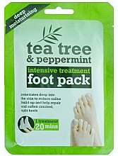 Düfte, Parfümerie und Kosmetik Feuchtigkeitsspendende Fußmaske in Socken mit Teebaum und Pfefferminze - Xpel Marketing Ltd Tea Tree & Peppermint Deep Moisturising Foot Pack