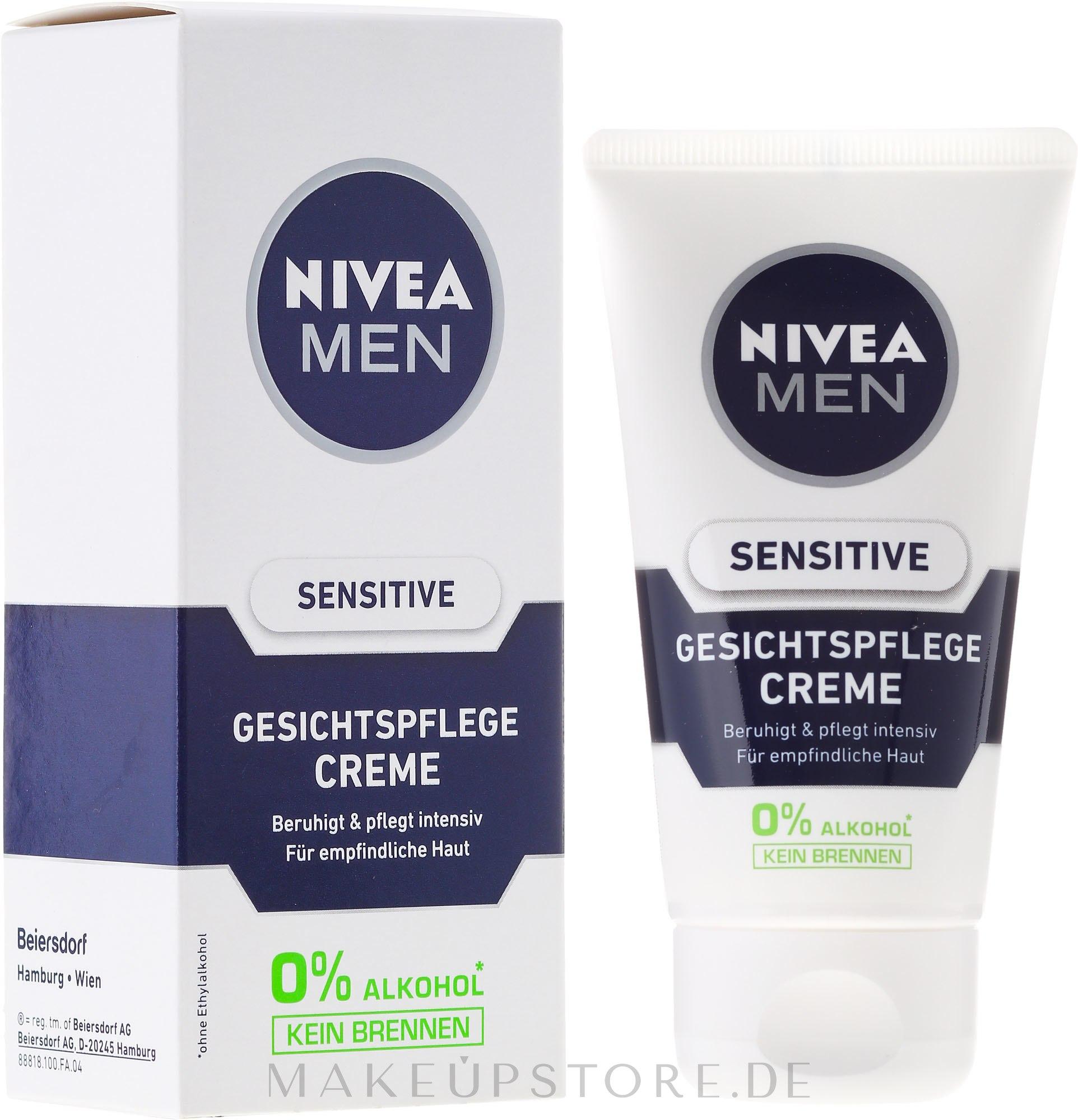 Beruhigende Gesichtscreme für empfindliche Haut - Nivea For Men Sensitive Soothing Cream — Bild 75 ml