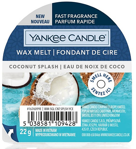 Duftwachs Coconut Splash - Yankee Candle Wax Melt Coconut Splash — Bild N1