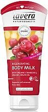 Düfte, Parfümerie und Kosmetik Körpermilch mit Bio Cranberry-Extrakt und Bio Arganöl für weiche und glatte Haut - Lavera Regenerating Body Milk With Organic Cranberry & Organic Argan Oil