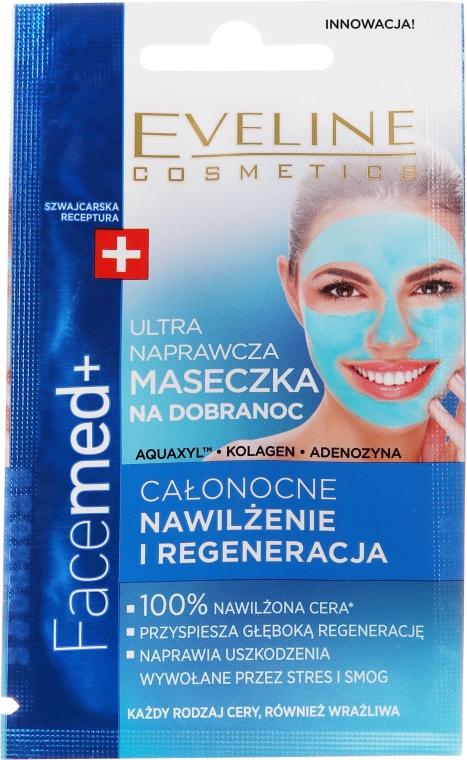 Intensiv feuchtigkeitsspendende und regenerierende Gesichtsmaske für die Nacht - Eveline Cosmetics Facemed+ — Bild N1