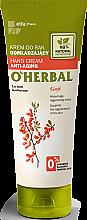 Düfte, Parfümerie und Kosmetik Verjüngende Handcreme mit Goji-Beeren-Extrakt - O'Herbal Rejuvenating Hand Cream With Goji Berry Extract