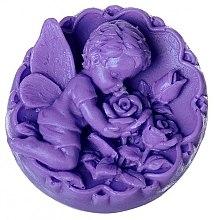 Düfte, Parfümerie und Kosmetik Handgemachte Naturseife Engel mit Rosen violett - LaQ Happy Soaps