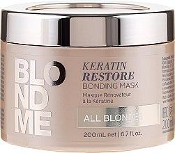 Düfte, Parfümerie und Kosmetik Aufbauende Intensivkur für blondes Haar - Schwarzkopf Professional Blondme Keratin Restore Bonding Mask