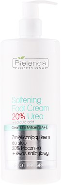 Weichmachende Fußcreme mit Salicylsäure und Vitaminen A und E - Bielenda Professional Podo Expert Program Softening Foot Cream 20% Urea — Bild N1