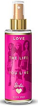 Düfte, Parfümerie und Kosmetik Parfümierter Körpernebel für Kinder Love The Life You Live - Bi-Es Barbie Love The Life Body Mis