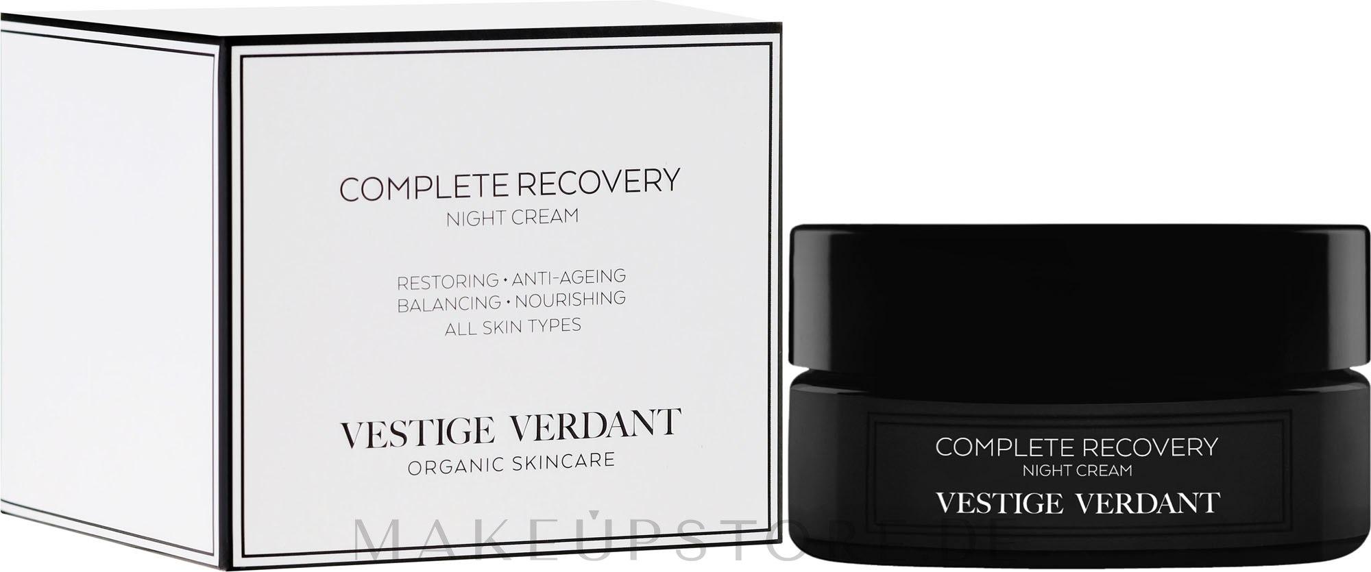 Regenerierende und beruhigende Nachtcreme - Vestige Verdant Complete Recovery Night Cream — Bild 50 ml