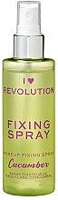 Düfte, Parfümerie und Kosmetik Make-up-Fixierer - I Heart Revolution Fixing Spray Cucumber