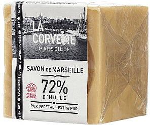 Hypoallergene Naturseife Extra Pur - La Corvette Savon de Marseille Extra Pure Soap Cube — Bild N1