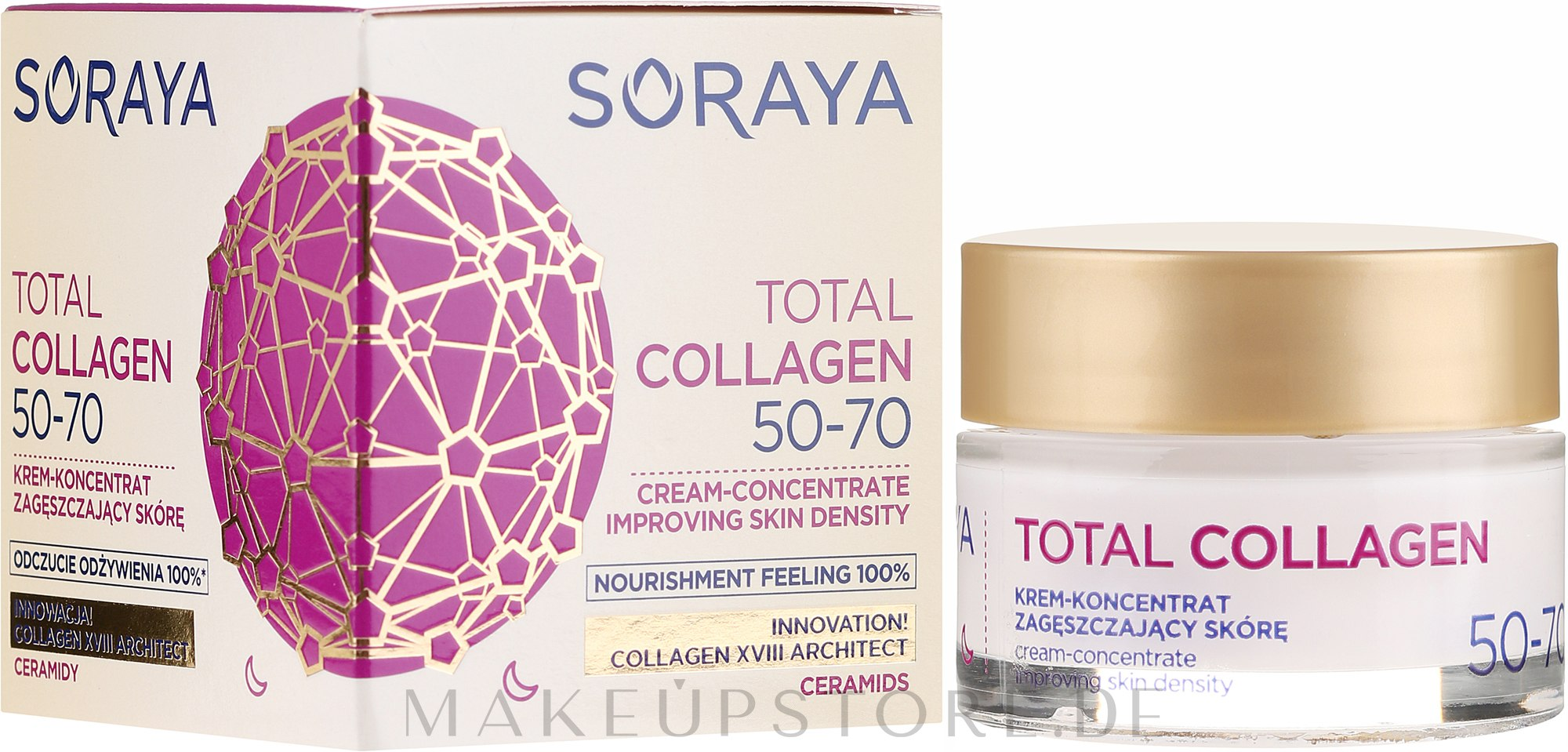 Nacht-Cremekonzentrat 50-70 - Soraya Total Collagen 50-70 — Bild 50 ml