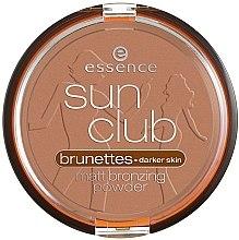 Düfte, Parfümerie und Kosmetik Bronzepuder - Essence Sun Club Matt Bronzing Powder
