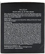 Feuchtigkeitsspendende, reparierende und porenverfeinernde Gesichtscreme mit schwarzem Schneckenfiltrat - Mizon Black Snail All In One Cream  — Bild N3