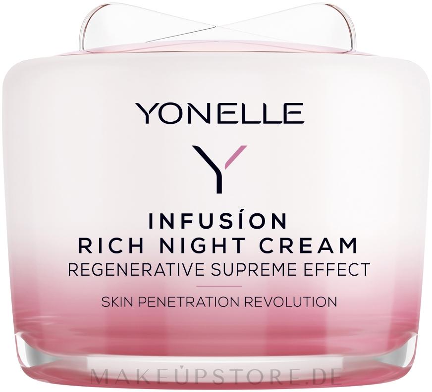 Regenerierende Nachtscreme für Gesicht und Hals - Yonelle Infusion Rich Night Cream — Bild 55 ml
