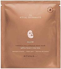 Düfte, Parfümerie und Kosmetik Anti-Aging Bio-Zellulose Tuchmaske für Gesicht mit Safranblüte & heiligem Lotus - Rituals The Ritual of Namaste Glow Radiance Sheet Mask
