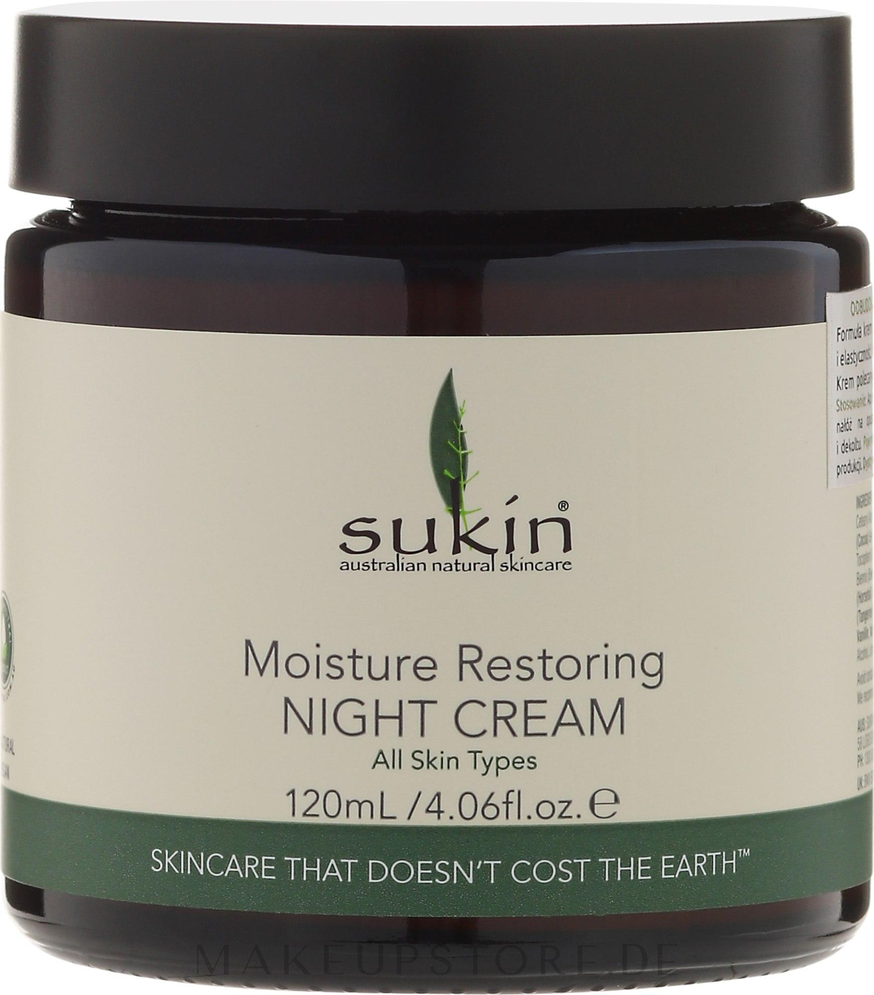 Regenerierende Nachtcreme für das Gesicht - Sukin Moisture Restoring Night Cream — Bild 120 ml