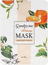 Düfte, Parfümerie und Kosmetik Aufhellende und energetisierende Gesichtsmaske mit Mandarinenschalen-Tee und Orange - A:t fox Gyoolpy Tea & Orange Mask