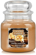 Düfte, Parfümerie und Kosmetik Duftkerze im Glas Caramel Chocolate - Country Candle Caramel Chocolate