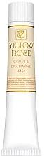 Düfte, Parfümerie und Kosmetik Feuchtigkeitsspendende Gel-Maske mit Kaviar und Marine DNA - Yellow Rose Caviar & Marine DNA Face Mask (in Tube)