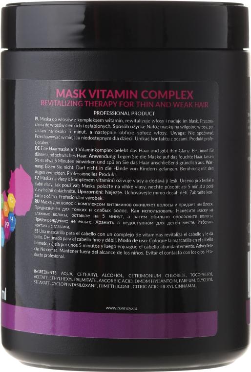 Revitalisierende Haarmaske mit Vitaminkomplex für dünnes und schwaches Haar - Ronney Vitamin Complex Revitalizing Therapy Mask — Bild N2