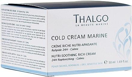 Reichhaltige Nutri-Creme für das Gesicht mit wertvollen Ölen - Thalgo Cold Cream Marine Nutri-Soothing Rich Cream — Bild N2