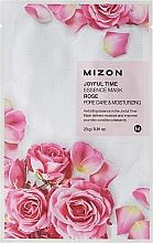 Düfte, Parfümerie und Kosmetik Feuchtigkeitsspendende Tuchmaske für das Gesicht mit Rosenextrakt - Mizon Joyful Time Essence Mask Rose