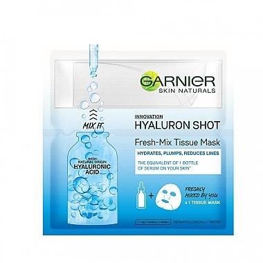 Erfrischende Tuchmaske mit Hyaluronsäure - Garnier SkinActive Fresh-Mix Sheet Mask With Hyaluronic Acid — Bild N1