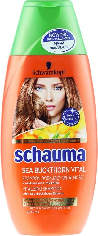 Vitalisierendes Shampoo mit Sanddorn-Extrakt für müdes, krafloses Haar - Schwarzkopf Schauma Shampoo — Bild N1