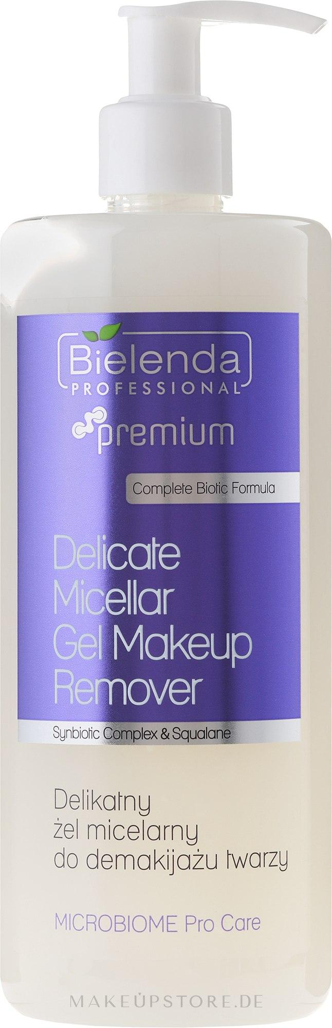 Mizellen-Gesichtswaschgel zum Abschminken - Bielenda Professional Microbiome Pro Care Delicate Micelar Gel Makeup Remover — Bild 500 ml