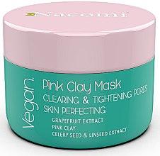 Düfte, Parfümerie und Kosmetik Straffende Gesichtsmaske mit rosa Ton - Nacomi Pink Clay Mask