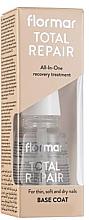 Düfte, Parfümerie und Kosmetik Regenerierender Nagelunterlack für dünne, weiche und trockene Nägel - Flormar Total Repair Base Coat