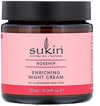 Düfte, Parfümerie und Kosmetik Pflegende Nachtcreme mit Hagebuttenöl - Sukin Rosehip Enriching Night Cream