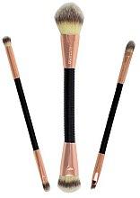 Düfte, Parfümerie und Kosmetik Make-up Pinselset 3-tlg. - Makeup Revolution Flex & Go Brush Set