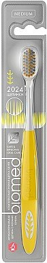 Zahnbürste mit Silberionen mittel Complete Care gelb - Biomed Silver Medium — Bild N1