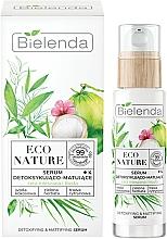Düfte, Parfümerie und Kosmetik Gesichtsserum mit Kokoswasser und Zitronengras - Bielenda Eco Nature Coconut Water Green Tea & Lemongrass Detox & Mattifyng Serum