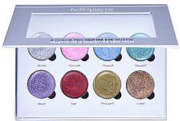 Düfte, Parfümerie und Kosmetik Lidschattenpalette mit Glitzer - Bellapierre 8 Color Pro Glitter Eye Palette