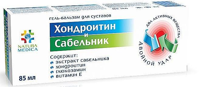 Gel-Balsam für die Gelenke mit Chondroitin und Sabelnik-Extrakt - Natura Medica — Bild N1