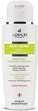 Normalisierendes Tonikum für fettige Haut, Akne und Mischhaut - Floslek Anti Acne Tonic — Bild N1