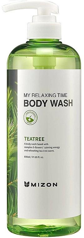 Erfrischendes entspannendes und beruhigendes Duschgel mit Teebaumduft - Mizon My Relaxing Time Body Wash — Bild N1