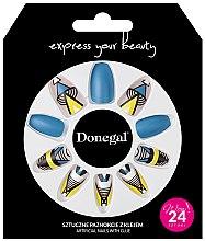 Düfte, Parfümerie und Kosmetik Künstliche Nägel Set mit Kleber 3051 - Donegal Express Your Beauty