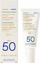 Düfte, Parfümerie und Kosmetik Sonnenschutzcreme-Gel für Gesicht und Augen SPF 50 - Korres Yoghurt Sunscreen Face & Eyes Cream Gel SPF50