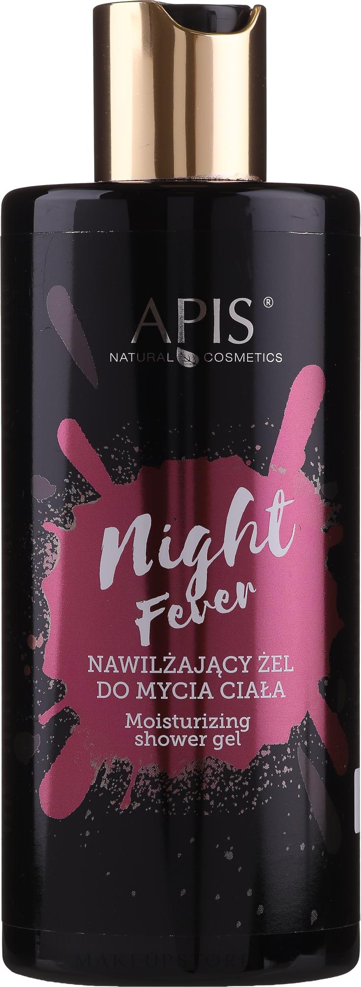 Feuchtigkeitsspendendes Dusch- und Badegel mit Hyaluronsäure und Panthenol - Apis Professional Night Fever — Bild 300 ml