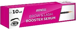 Düfte, Parfümerie und Kosmetik Booster-Serum zum Augenbrauen- und Wimpernwachstum - Andmetics Brow & Lash Booster Serum