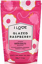 Düfte, Parfümerie und Kosmetik Badesalz mit Himbeere, Erdbeere und Vanille - I Love... Glazed Raspberry Bath Salt
