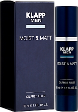 Düfte, Parfümerie und Kosmetik Ölfreies Fluid für Gesicht mit grünem Kaffee und Enantia-Chlorantha-Baumrinde - Klapp Men Moist & Matt Oilfree Fluid