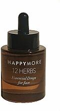 Düfte, Parfümerie und Kosmetik Pflegendes Anti-Aging Gesichtsserum mit Tröpfchen aus wertvollsten Ölen - Happymore 12 Herbs Essential Drops