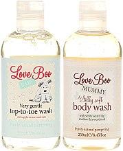 Love Boo Happy Baby Shower - Körperpflegeset für Baby und Mutter (2in1 Duschgel und Shampoo für empfindliche Babyhaut 250ml + Duschgel für Mutter 250ml) — Bild N2