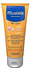 Düfte, Parfümerie und Kosmetik Wasserfeste Sonnenschutzlotion für Babys und Kinder SPF 50+ - Mustela Baby Very High Protection Sun Lotion SPF 50+